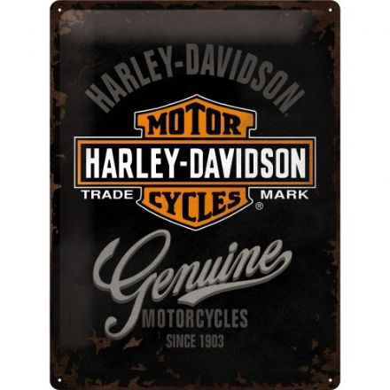 Harley Davidson Logo - 3D  Metal Wall Sign